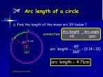 arc length of a circle6