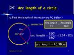 arc length of a circle8