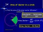 area of sector in a circle15