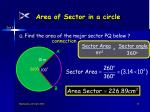 area of sector in a circle16