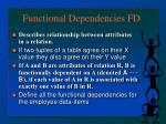 functional dependencies fd