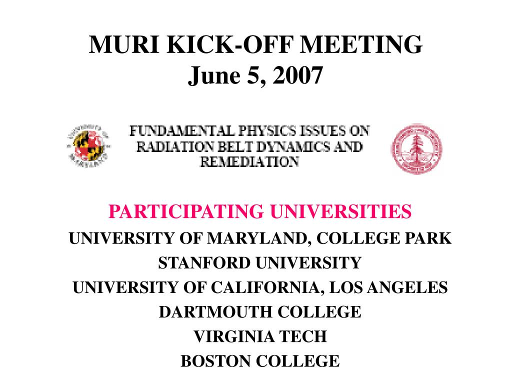 muri kick off meeting june 5 2007 l.