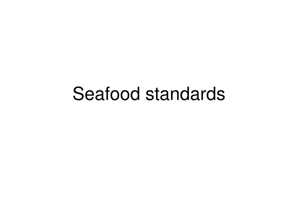 seafood standards l.