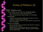forms of violence i