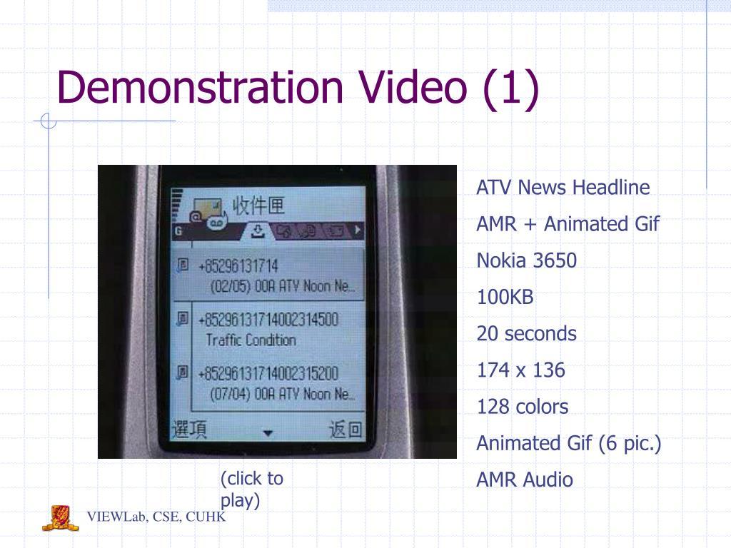 Demonstration Video (1)