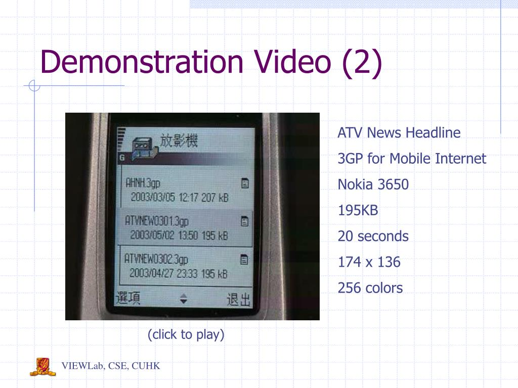 Demonstration Video (2)