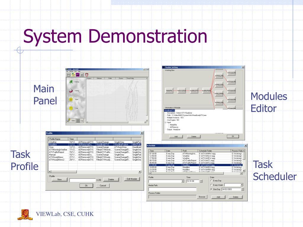 System Demonstration