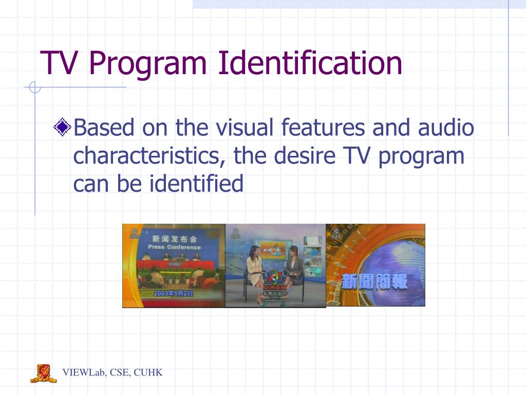 TV Program Identification