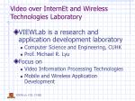 video over internet and wireless technologies laboratory