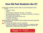 how did past students like it