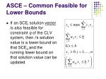 asce common feasible for lower bounds
