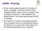 asce pruning
