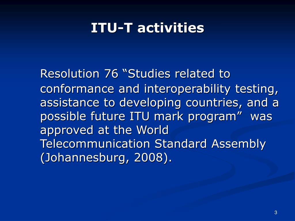 ITU-T activities