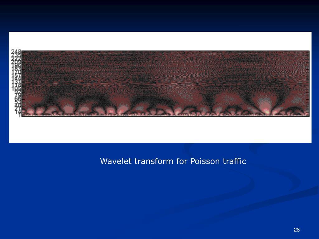 Wavelet transform for Poisson traffic