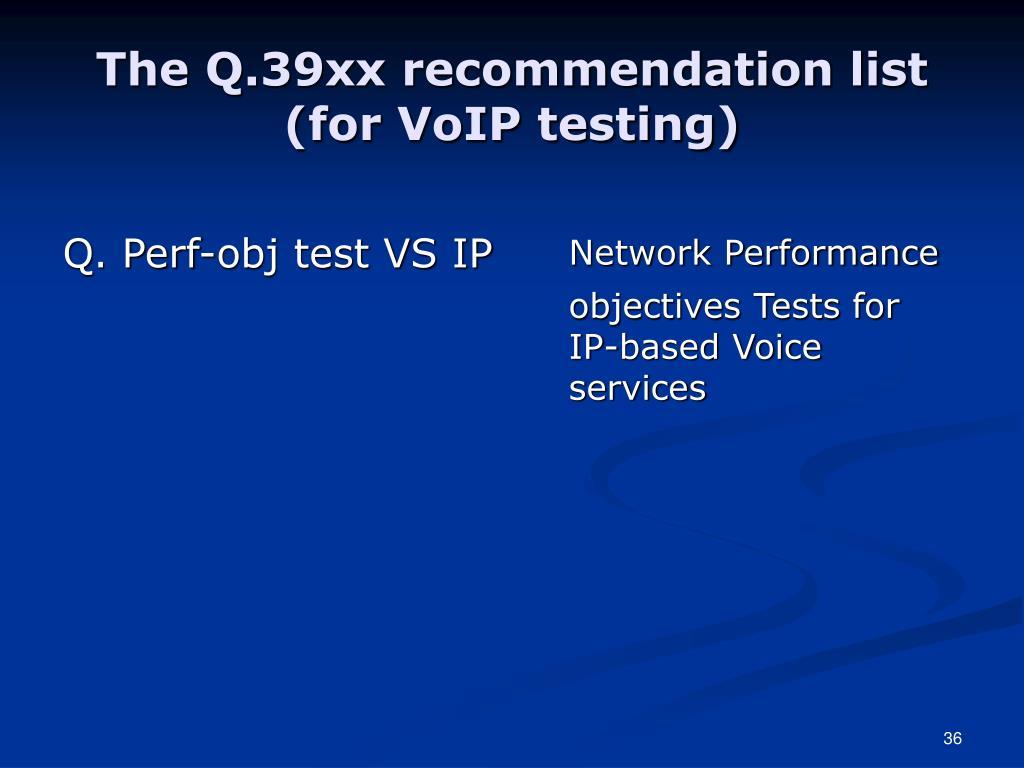 Q. Perf-obj test VS IP