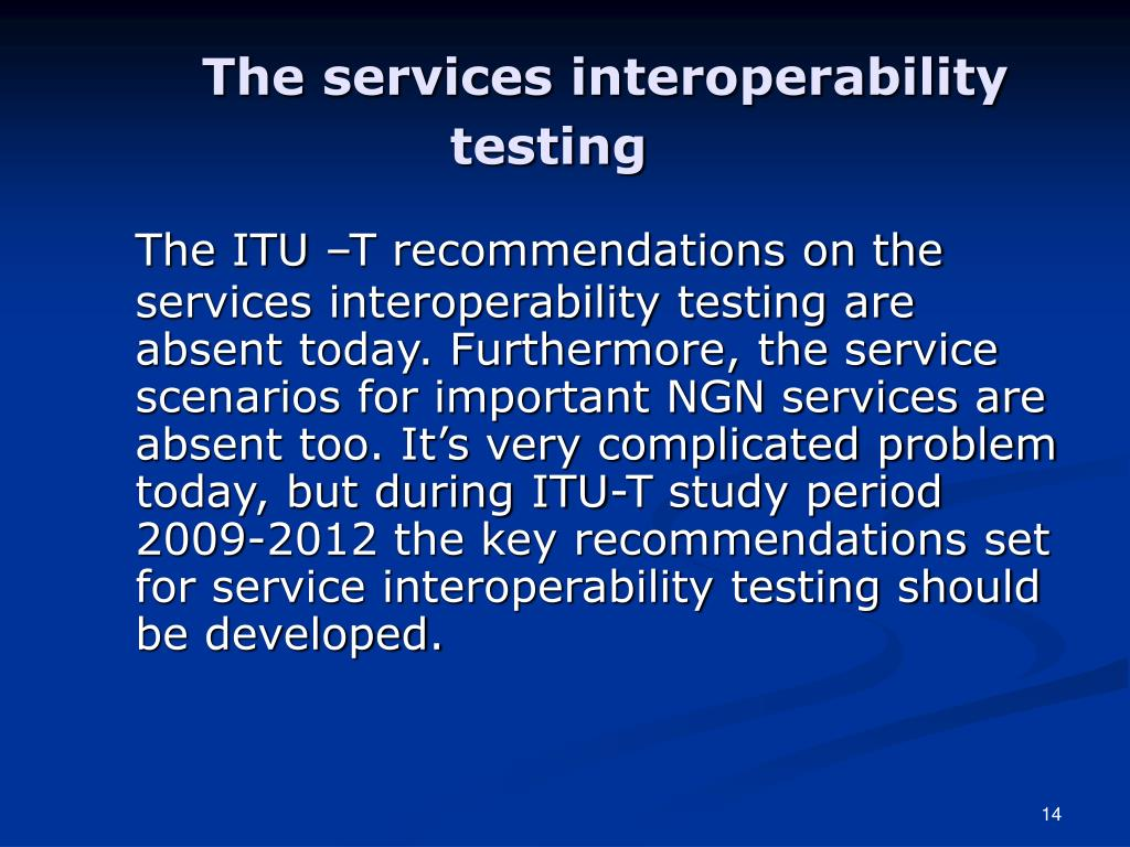 The services interoperability testing