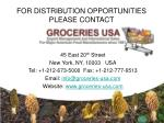 for distribution opportunities please contact