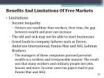 benefits and limitations of free markets37