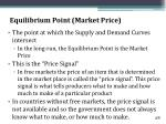 equilibrium point market price