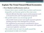 explain the trend toward mixed economies