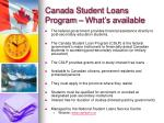 canada student loans program what s available