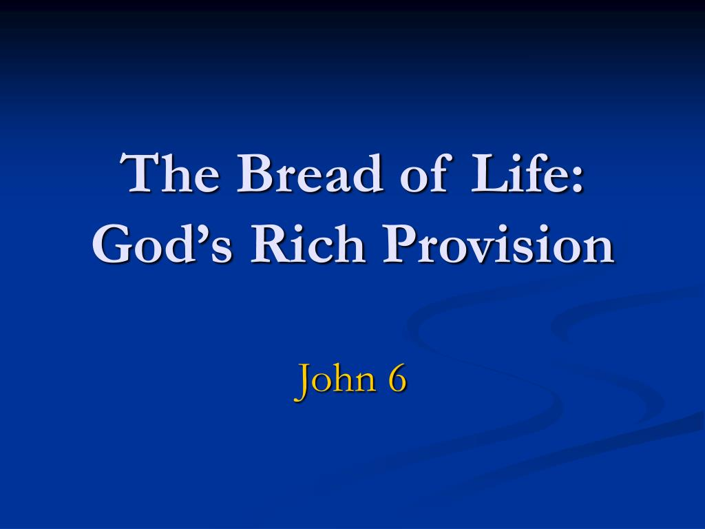 the bread of life god s rich provision l.