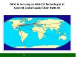 ornl is focusing on web 2 0 technologies to connect global supply chain partners