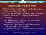 decentralized synchronization