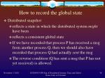 how to record the global state
