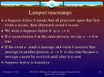 lamport timestamps