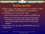 modified algorithm