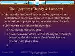 the algorithm chandy lamport
