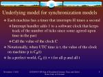 underlying model for synchronization models