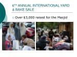 6 th annual international yard bake sale
