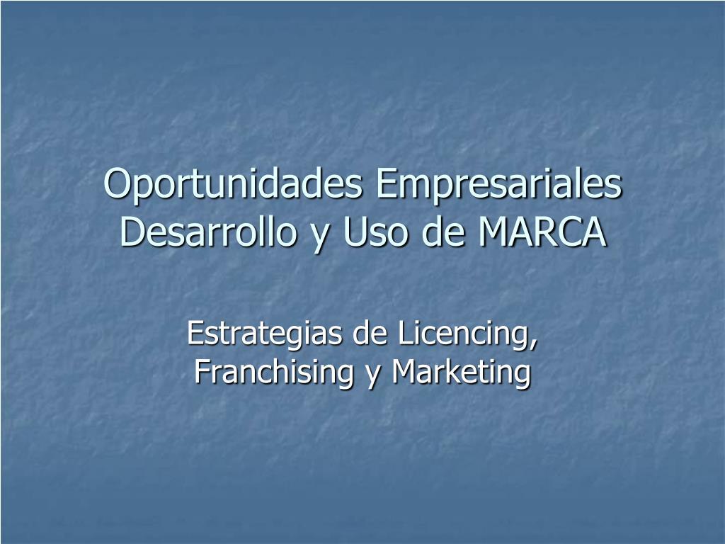 oportunidades empresariales desarrollo y uso de marca l.