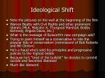 ideological shift