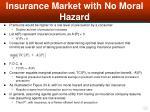 insurance market with no moral hazard39