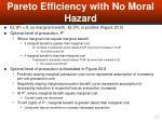 pareto efficiency with no moral hazard35