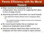 pareto efficiency with no moral hazard49