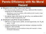 pareto efficiency with no moral hazard52