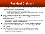 residual claimant