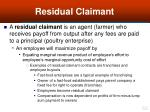 residual claimant62