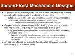 second best mechanism designs16