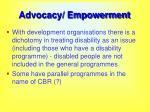 advocacy empowerment