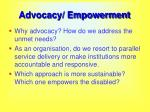 advocacy empowerment55