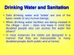 drinking water and sanitation