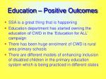 education positive outcomes