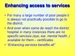 enhancing access to services40