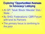 exploring opportunities avenues for advocacy lobbying17