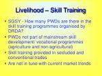 livelihood skill training
